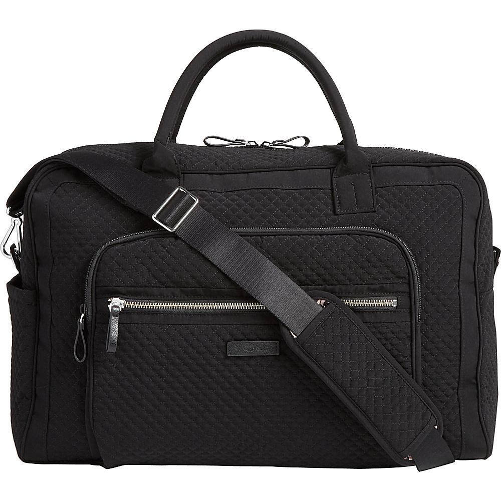 Vera Bradley Iconic Weekender Travel Bag - Solids Classic Black - Vera Bradley Travel Duffels - Duffels, Travel Duffels