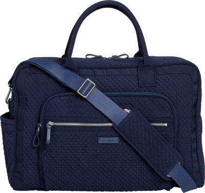 Vera Bradley Iconic Weekender Travel Bag - Solids Classic Navy - Vera Bradley Travel Duffels