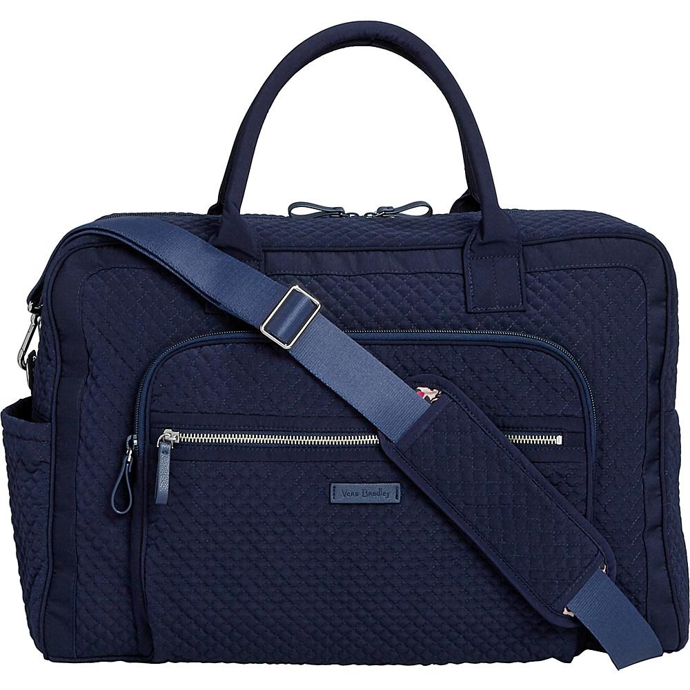 Vera Bradley Iconic Weekender Travel Bag - Solids Classic Navy - Vera Bradley Travel Duffels - Duffels, Travel Duffels