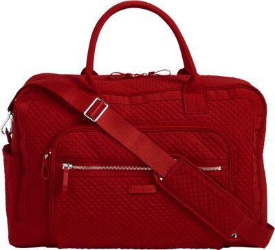 Vera Bradley Iconic Weekender Travel Bag - Solids Cardinal Red - Vera Bradley Travel Duffels