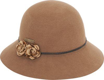 Adora Hats Floral Wool Felt Cloche One Size - Brown - Adora Hats Hats/Gloves/Scarves