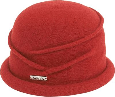 Adora Hats Coiled Soft Wool Cloche One Size - Red - Adora Hats Hats/Gloves/Scarves