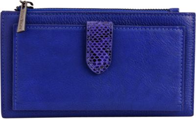 Phive Rivers Multi-Compartment Tab Leather Wallet Royal Blue - Phive Rivers Women's Wallets