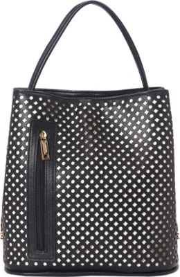 Samoe Classic Convertible Shoulder Bag Black Laser Cut/Black - Samoe Manmade Handbags