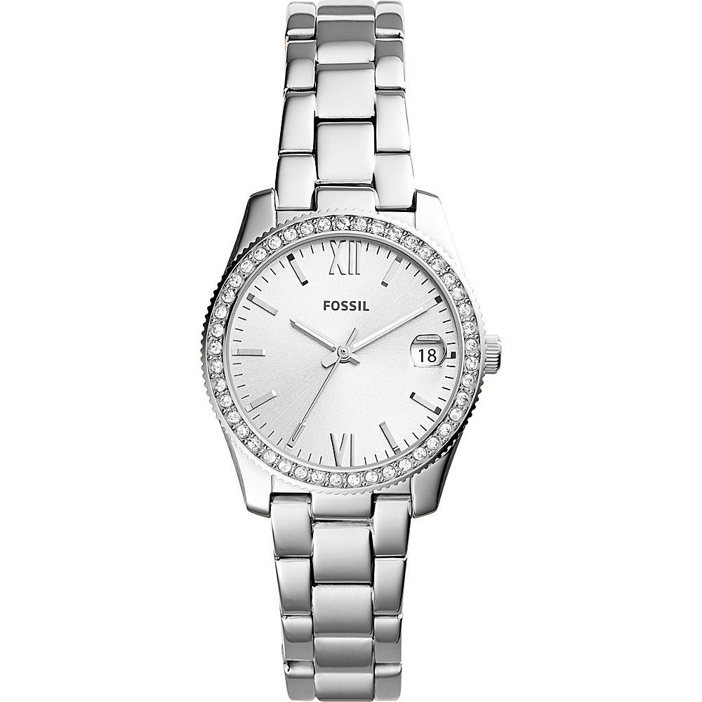Fossil Scarlette Three-Hand Date Stainless Steel Watch Silver - Fossil Watches - Fashion Accessories, Watches