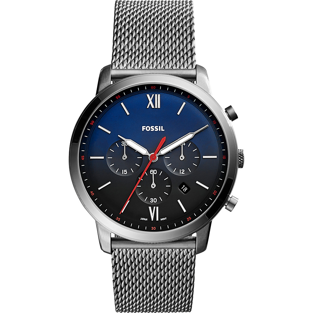 Fossil Neutra Chronograph Stainless Steel Leather Watch Grey - Fossil Watches - Fashion Accessories, Watches