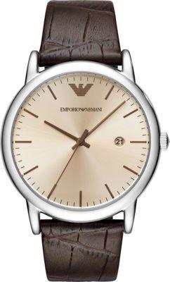 Emporio Armani Men's Dress Watch Brown - Emporio Armani Watches