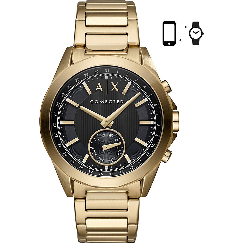 A/X Armani Exchange Men''s Hybrid Smartwatch Gold - A/X Armani Exchange Wearable Technology