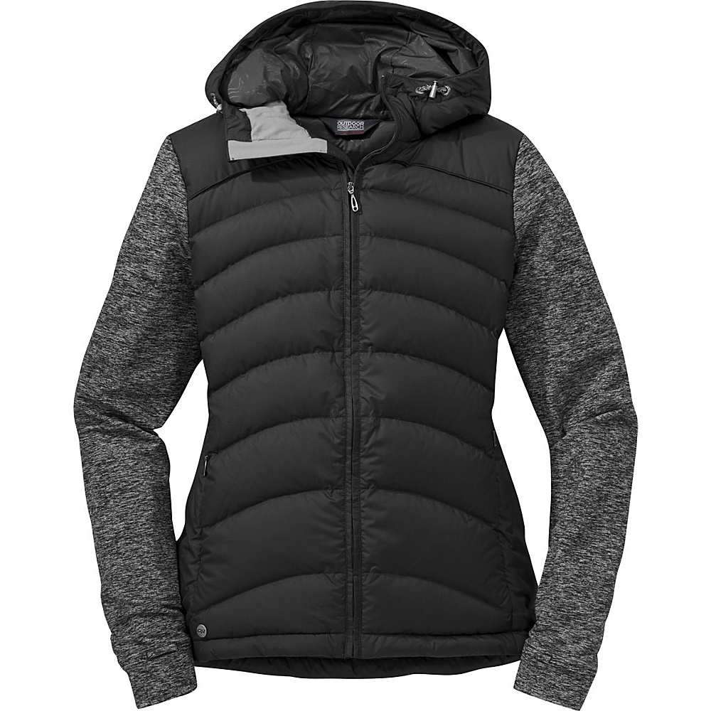 Outdoor Research Womens Insulated Plaza Down Hoody S - Black - Outdoor Research Womens Apparel - Apparel & Footwear, Women's Apparel