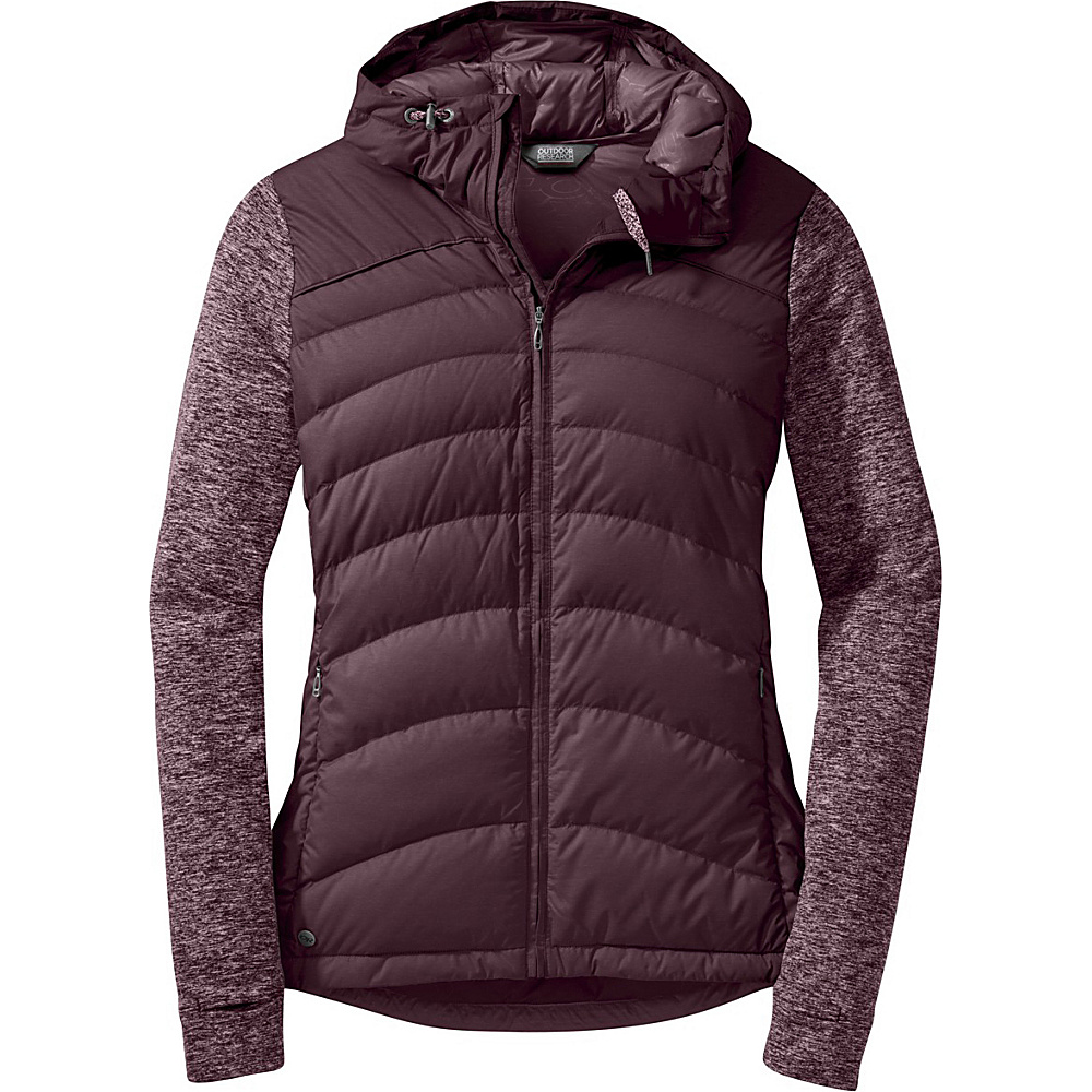 Outdoor Research Womens Insulated Plaza Down Hoody S - Pinot - Outdoor Research Womens Apparel - Apparel & Footwear, Women's Apparel