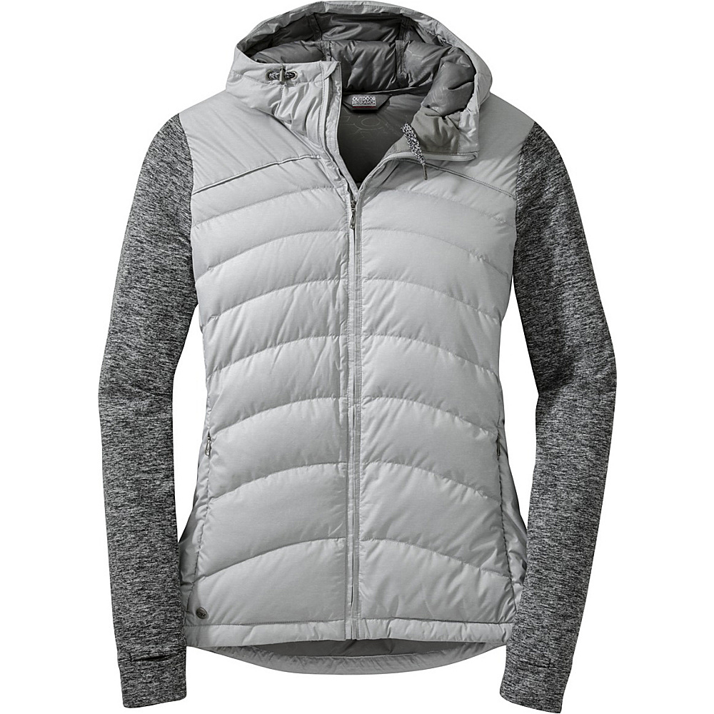 Outdoor Research Womens Insulated Plaza Down Hoody XS - Alloy/Black - Outdoor Research Womens Apparel - Apparel & Footwear, Women's Apparel