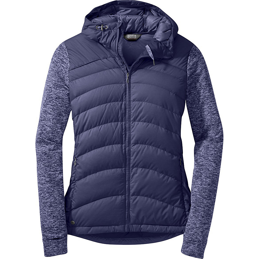 Outdoor Research Womens Insulated Plaza Down Hoody M - Blue Violet - Outdoor Research Womens Apparel - Apparel & Footwear, Women's Apparel