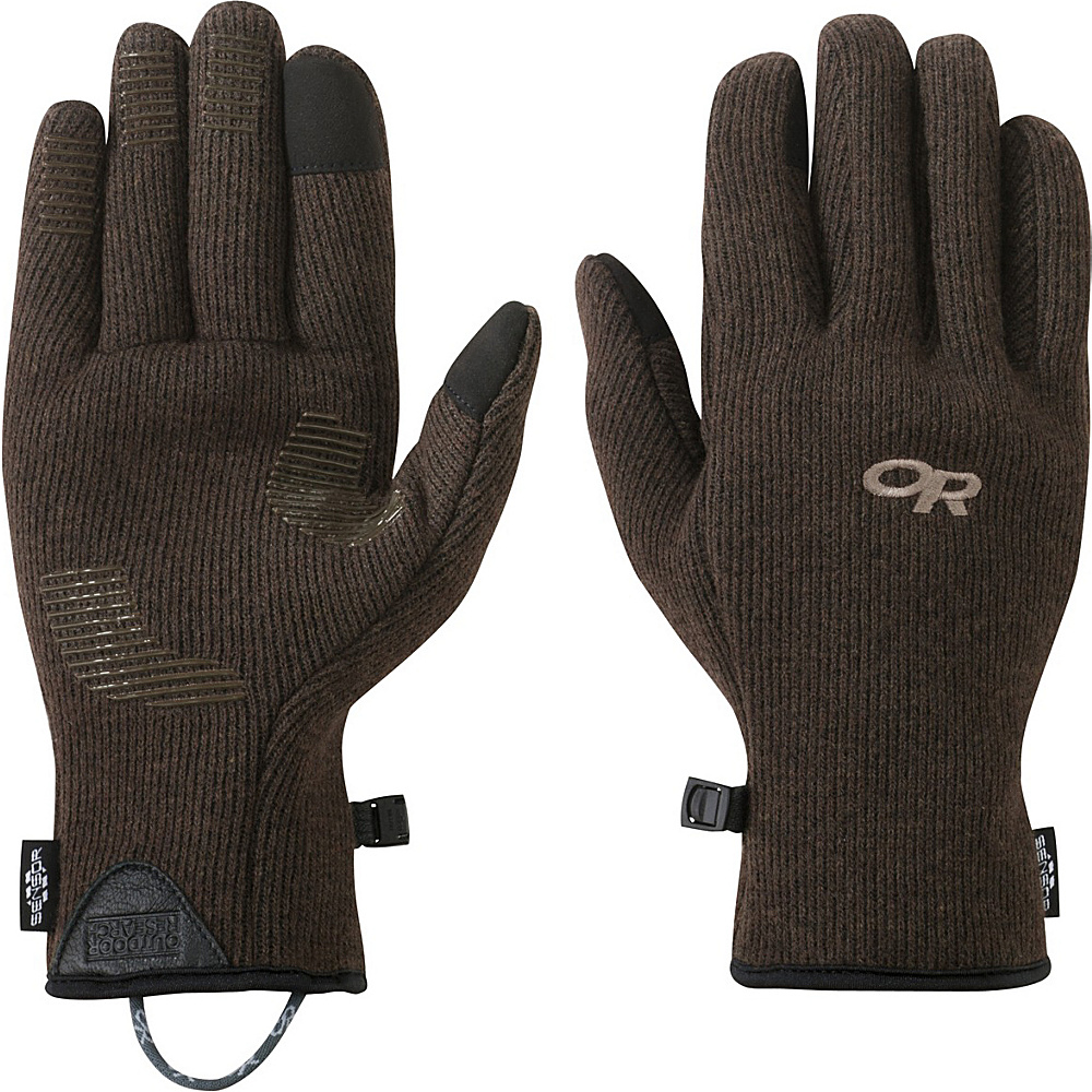 Outdoor Research Mens Flurry Sensor Gloves S - Earth - Outdoor Research Hats/Gloves/Scarves - Fashion Accessories, Hats/Gloves/Scarves