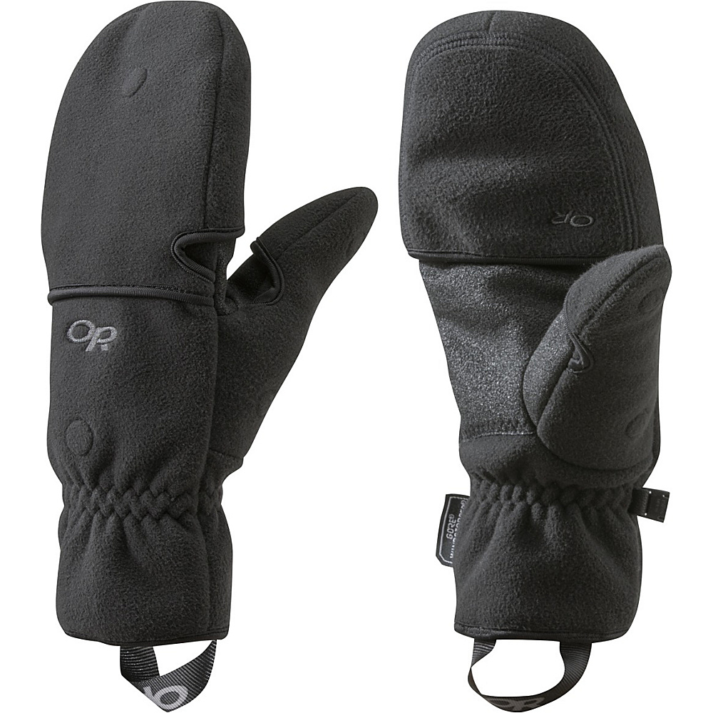 Outdoor Research Gripper Convertible Gloves XL - Black - Outdoor Research Hats/Gloves/Scarves - Fashion Accessories, Hats/Gloves/Scarves