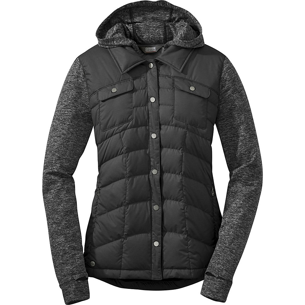 Outdoor Research Womens Insulated Plaza Down Jackette L - Black - Outdoor Research Womens Apparel - Apparel & Footwear, Women's Apparel