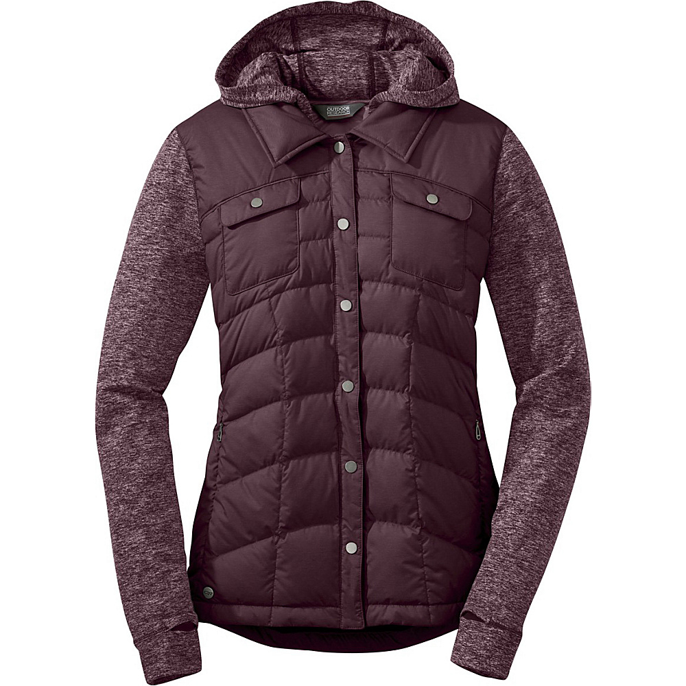 Outdoor Research Womens Insulated Plaza Down Jackette L - Pinot - Outdoor Research Womens Apparel - Apparel & Footwear, Women's Apparel
