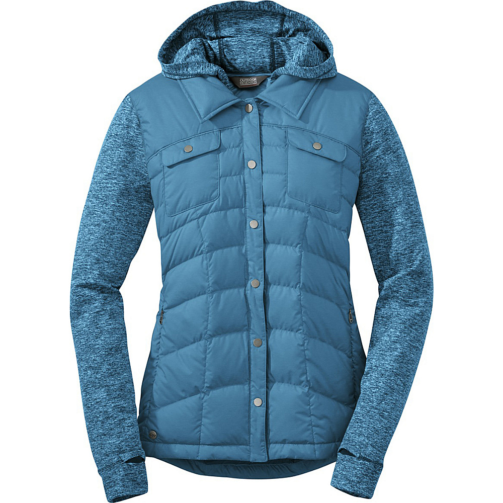 Outdoor Research Womens Insulated Plaza Down Jackette L - Oasis - Outdoor Research Womens Apparel - Apparel & Footwear, Women's Apparel