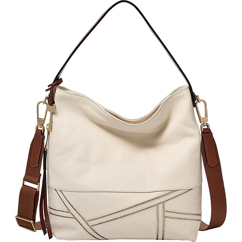 Fossil Maya Hobo Vanilla - Fossil Leather Handbags - Handbags, Leather Handbags