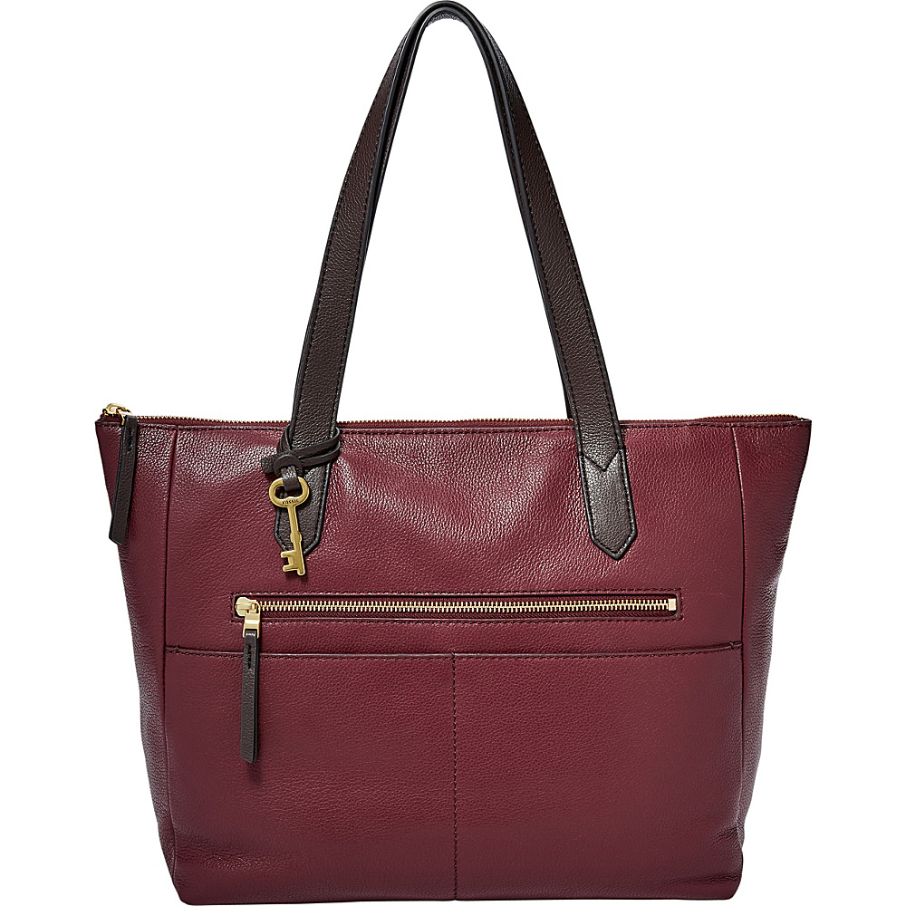 Fossil Fiona EW Tote Cabernet - Fossil Leather Handbags - Handbags, Leather Handbags