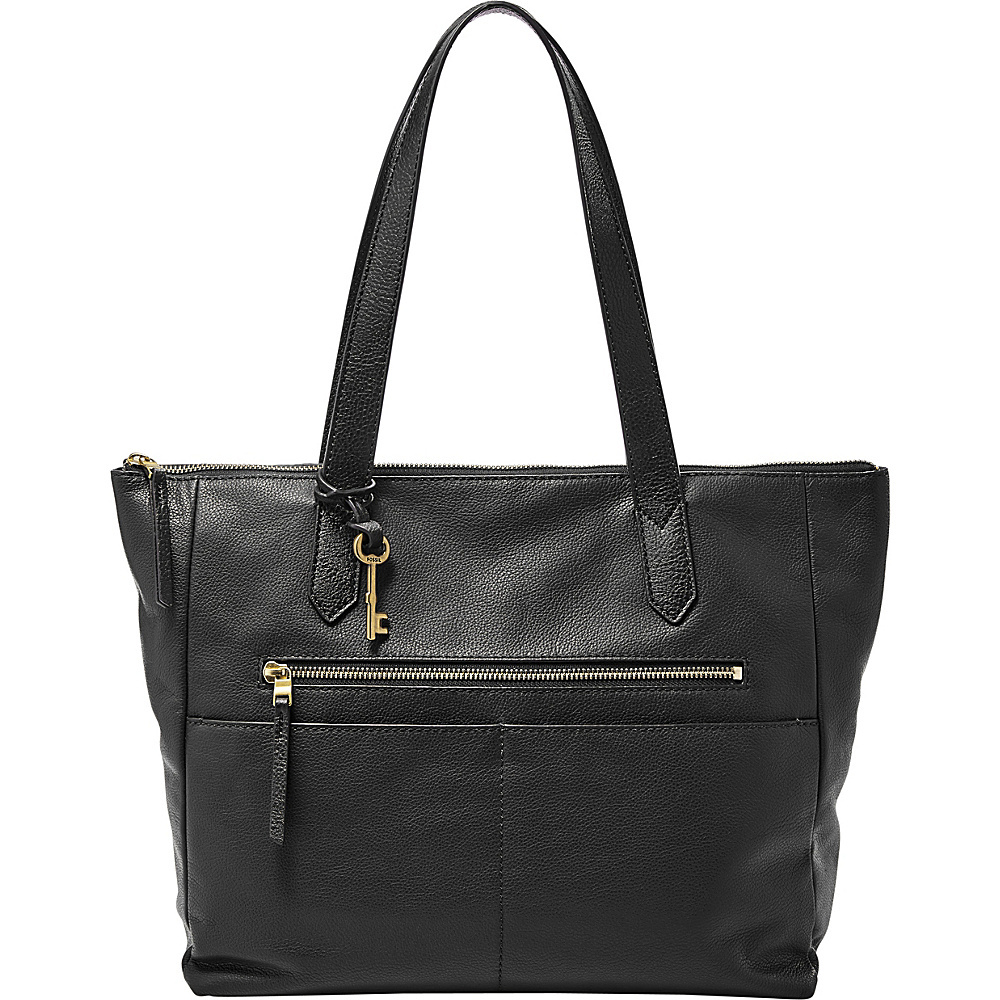 Fossil Fiona EW Tote Black - Fossil Leather Handbags - Handbags, Leather Handbags