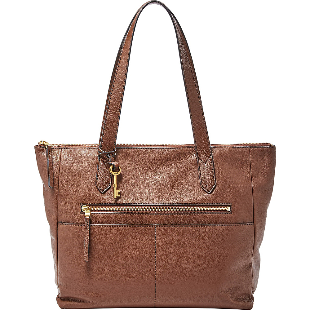 Fossil Fiona EW Tote Medium Brown - Fossil Leather Handbags - Handbags, Leather Handbags