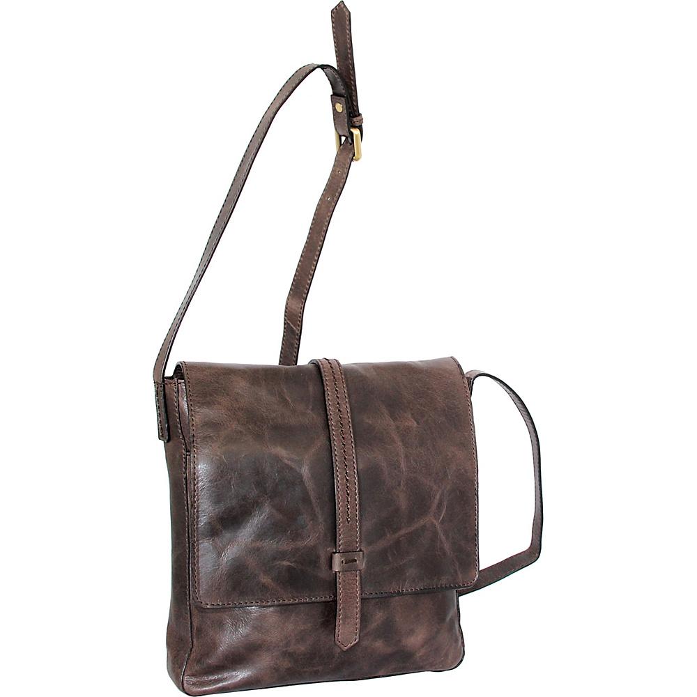 Nino Bossi Abbi Crossbody Chocolate - Nino Bossi Leather Handbags - Handbags, Leather Handbags