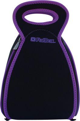 FlatBox Large Placemat Lunch Bag Black/Purple/Black - FlatBox Travel Coolers