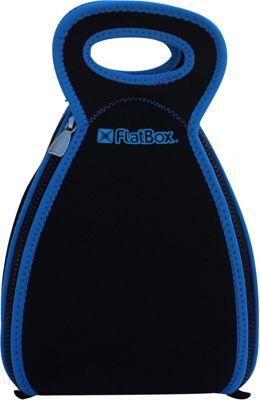 FlatBox Large Placemat Lunch Bag Black/Blue/Black - FlatBox Travel Coolers