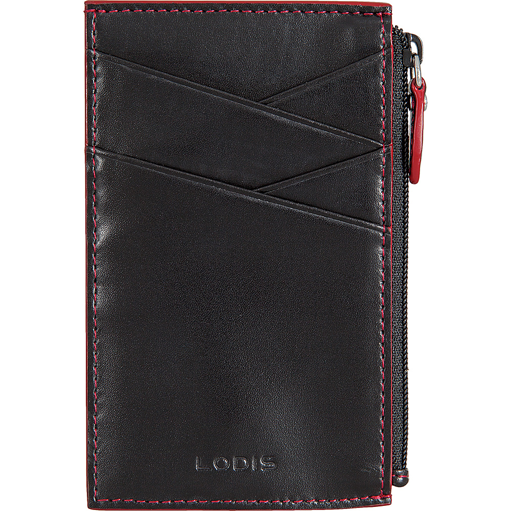 Lodis Audrey Ina Card Case - Discontinued Colors Black/ Red - Lodis Womens Wallets - Women's SLG, Women's Wallets