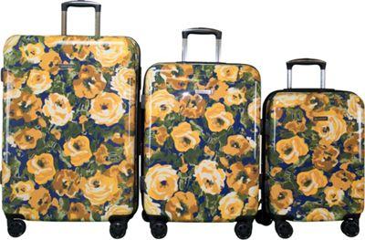 Isaac Mizrahi Inez 3 Piece Hardside Spinner Luggage Set Yellow - Isaac Mizrahi Luggage Sets