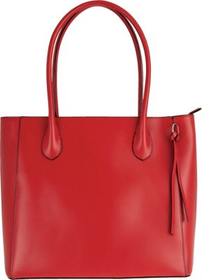 Lodis Audrey Cecily Satchel - Discontinued Colors Red - Lodis Leather Handbags