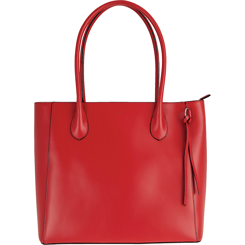 Lodis Audrey Cecily Satchel - Discontinued Colors Red - Lodis Leather Handbags - Handbags, Leather Handbags