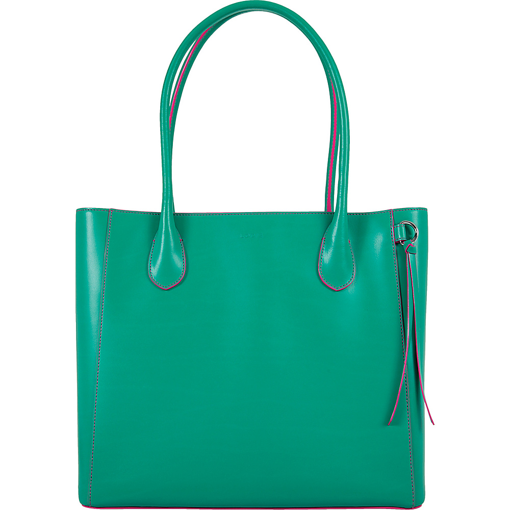 Lodis Audrey Cecily Satchel - Discontinued Colors Green/Azalea - Lodis Leather Handbags - Handbags, Leather Handbags