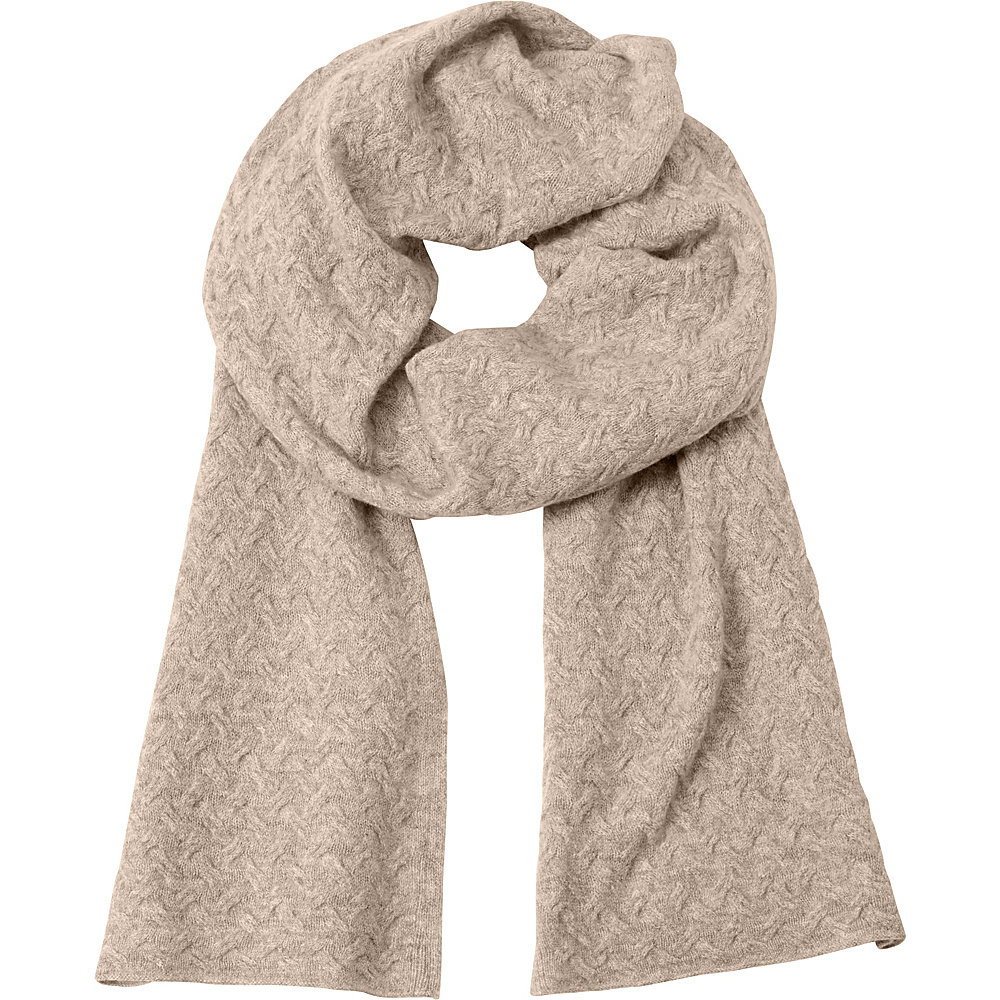 Kinross Cashmere Cable Luxury Scarf Antler - Kinross Cashmere Hats/Gloves/Scarves - Fashion Accessories, Hats/Gloves/Scarves