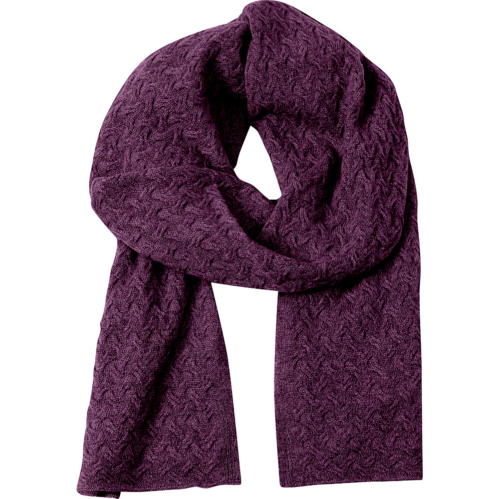 Kinross Cashmere Cable Luxury Scarf Cassis - Kinross Cashmere Hats/Gloves/Scarves - Fashion Accessories, Hats/Gloves/Scarves