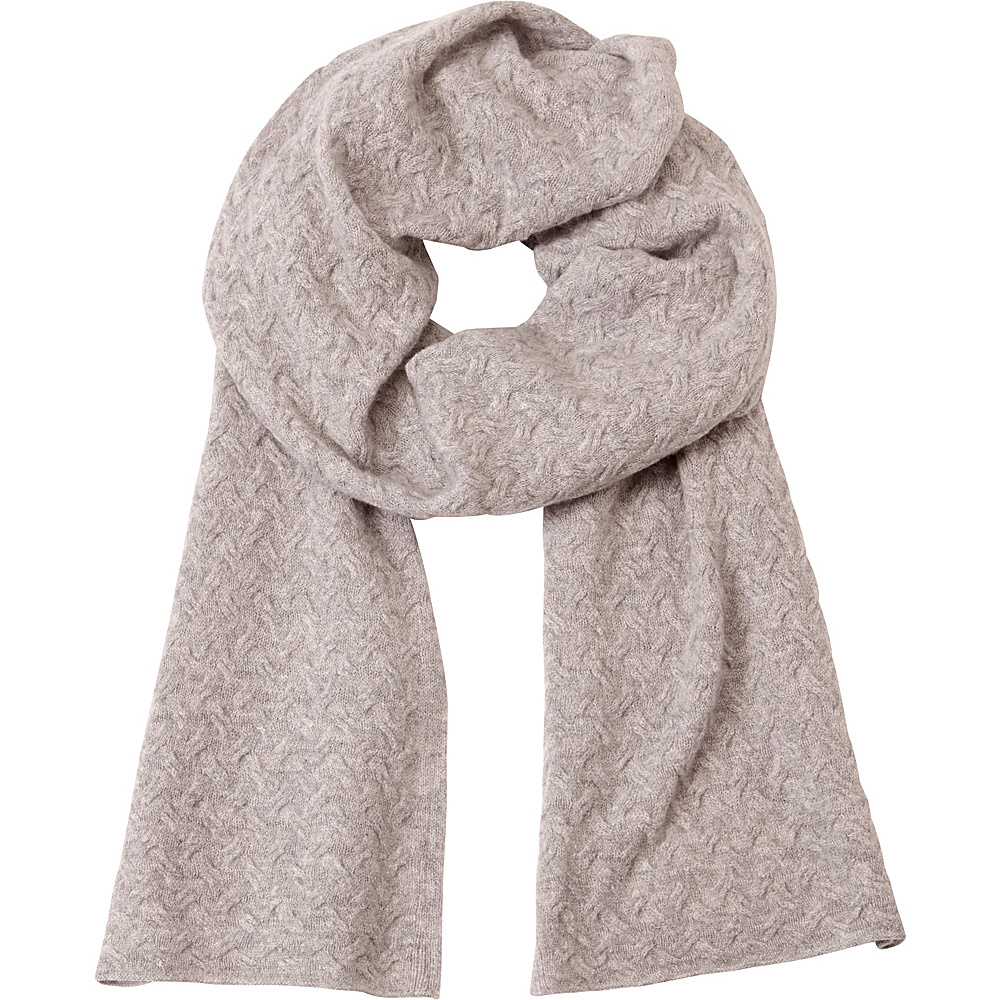 Kinross Cashmere Cable Luxury Scarf Sterling - Kinross Cashmere Hats/Gloves/Scarves - Fashion Accessories, Hats/Gloves/Scarves