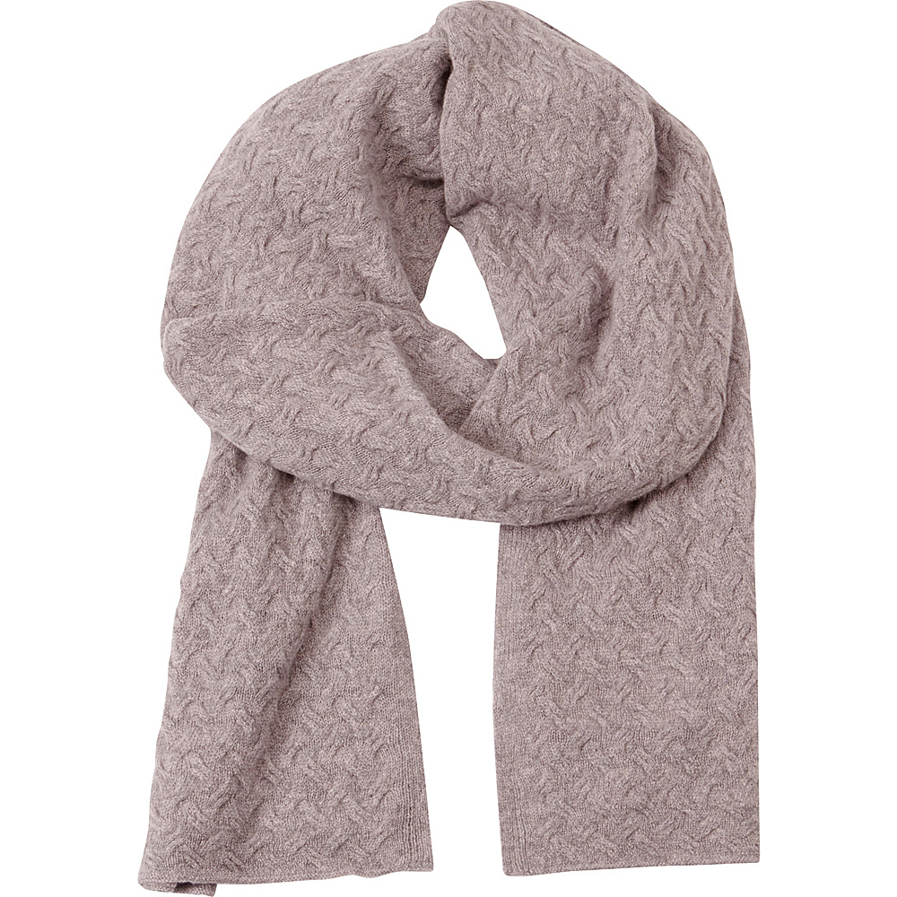 Kinross Cashmere Cable Luxury Scarf Thistle - Kinross Cashmere Hats/Gloves/Scarves - Fashion Accessories, Hats/Gloves/Scarves