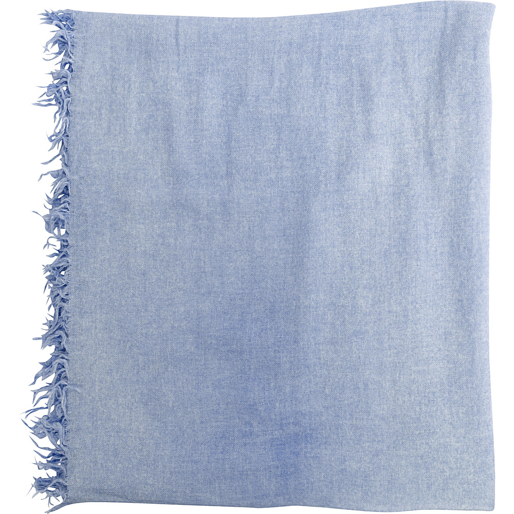 Kinross Cashmere Ombre Fringe Scarf Navy - Kinross Cashmere Hats/Gloves/Scarves - Fashion Accessories, Hats/Gloves/Scarves