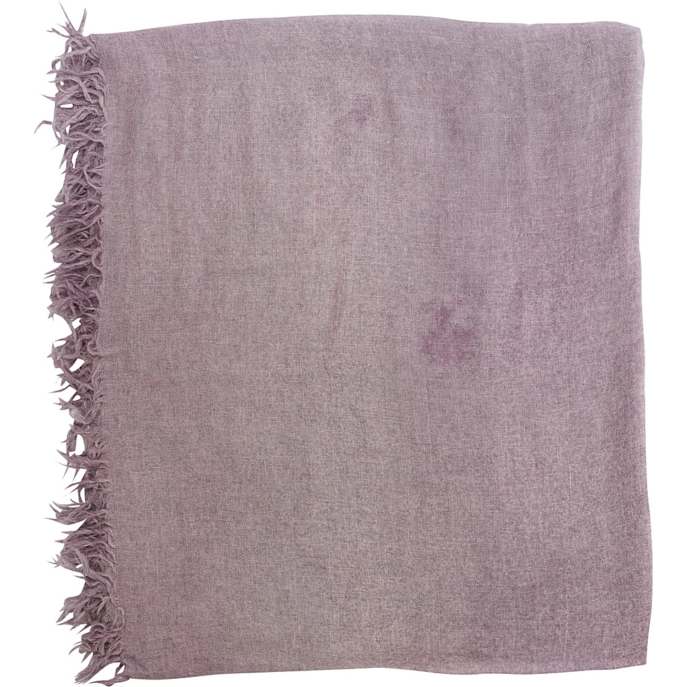 Kinross Cashmere Ombre Fringe Scarf Thistle - Kinross Cashmere Hats/Gloves/Scarves - Fashion Accessories, Hats/Gloves/Scarves