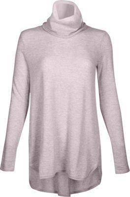 Kinross Cashmere Cowl Pleat Back Tunic XL - Thistle - Kinross Cashmere Women's Apparel