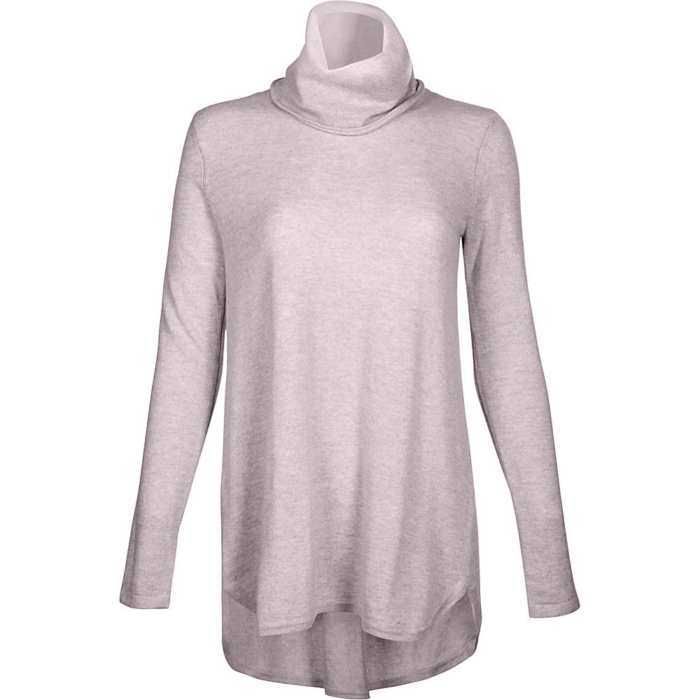 Kinross Cashmere Cowl Pleat Back Tunic XS - Thistle - Kinross Cashmere Womens Apparel - Apparel & Footwear, Women's Apparel