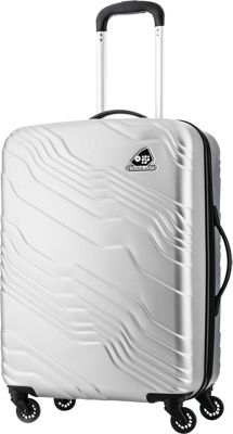 Kamiliant Kanyon 24 inch Hardside Checked Spinner Luggage Silver - Kamiliant Hardside Checked