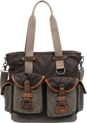 TSD Tapa Tote Grey - TSD Fabric Handbags