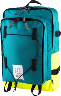 Topo Designs Stack Pack Laptop Backpack Turquoise/Bright Yellow - Topo Designs Laptop Backpacks