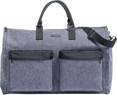 Hook & Albert Melange Fabric Gen. 2 Garment Weekender Bag Gray - Hook & Albert Garment Bags