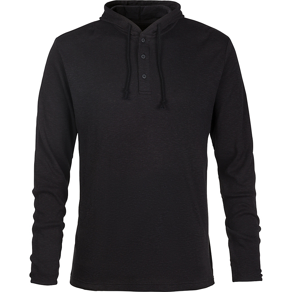 DAKINE Mens Finn Long Sleeve Hoodeed Knit Shirt M - Black - DAKINE Mens Apparel - Apparel & Footwear, Men's Apparel