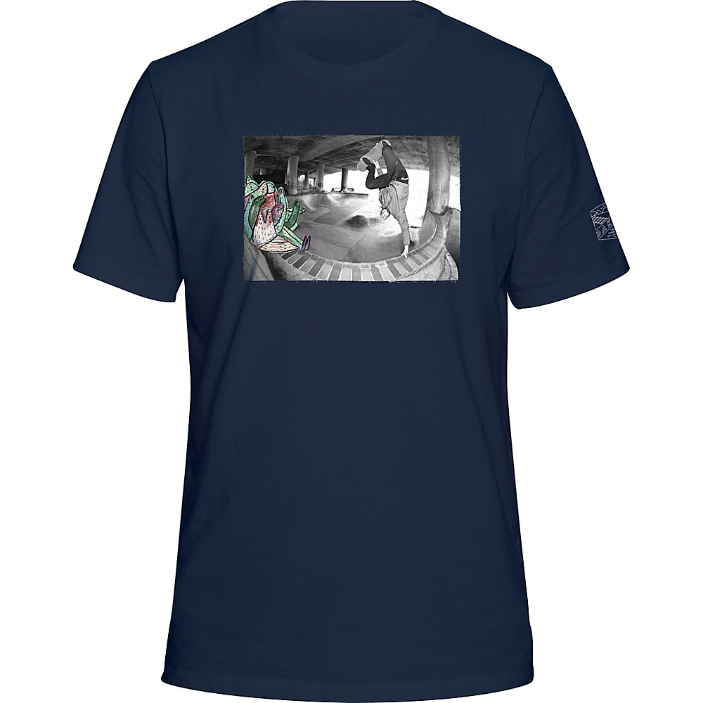 DAKINE Mens Rambler Photo T-Shirt L - Navy - DAKINE Mens Apparel - Apparel & Footwear, Men's Apparel