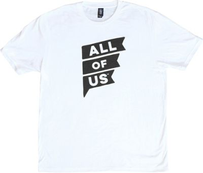 All of Us Mens Crew Flag Tee XL - White - All of Us Men's Apparel