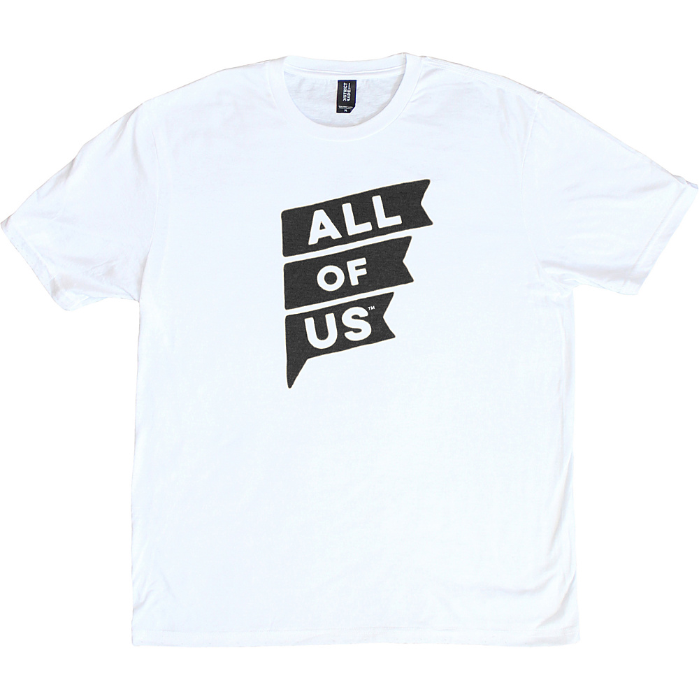 All of Us Mens Crew Flag Tee L – White – All of Us Men's Apparel