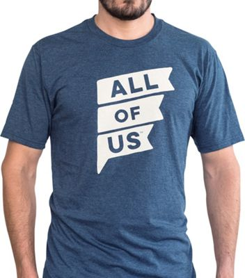 All of Us Mens Crew Flag Tee S - Navy Frost - All of Us Men's Apparel
